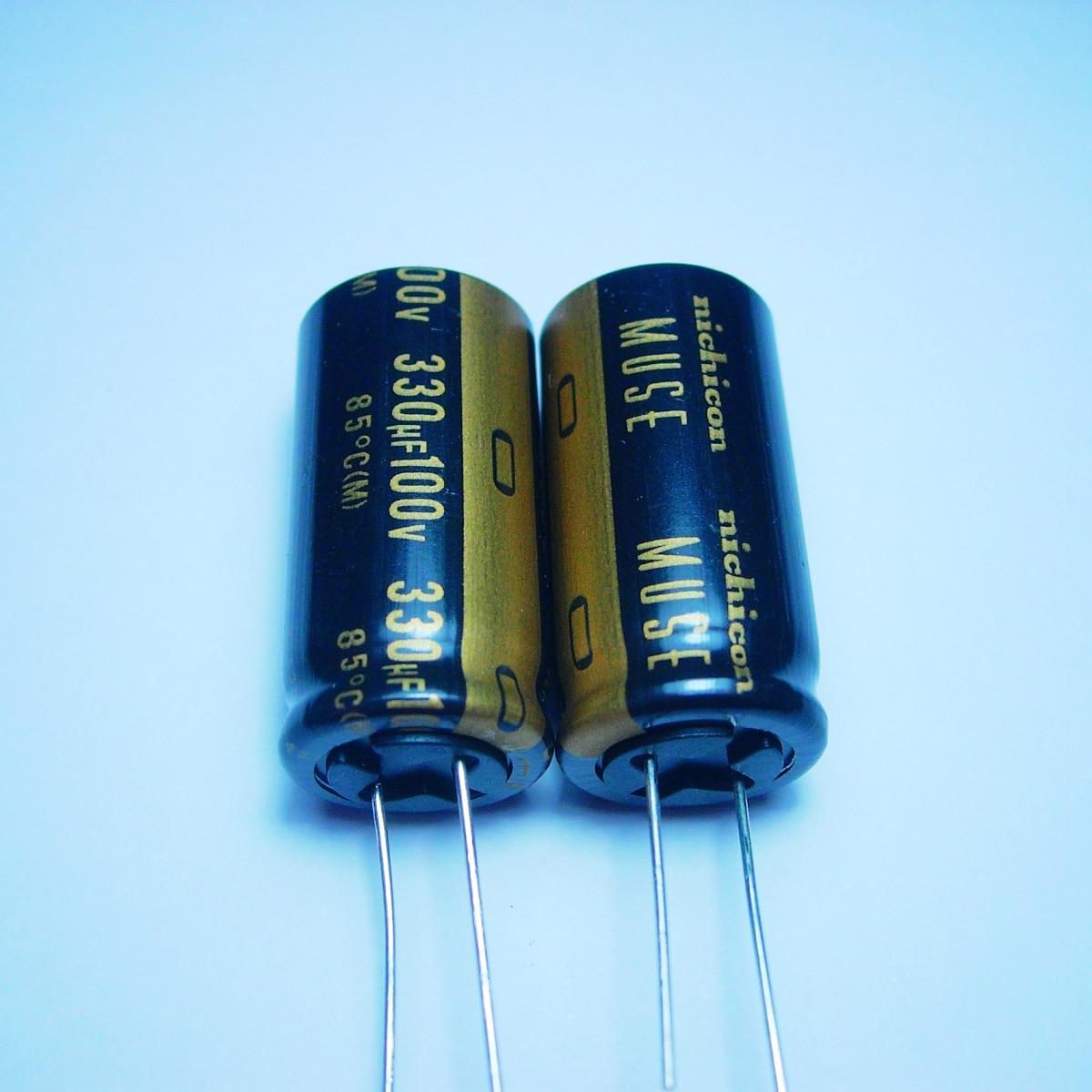 10 шт/20 шт оригинальные nichicon 330 мкФ/100v 18*36 MUSE KZ аудио супер конденсатор