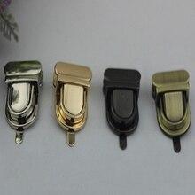 New Gold Silver Gun black Bronze Durable Buckle Twist Lock Hardware For Bag Shape Handbag DIY Turn Lock Bag Clasp