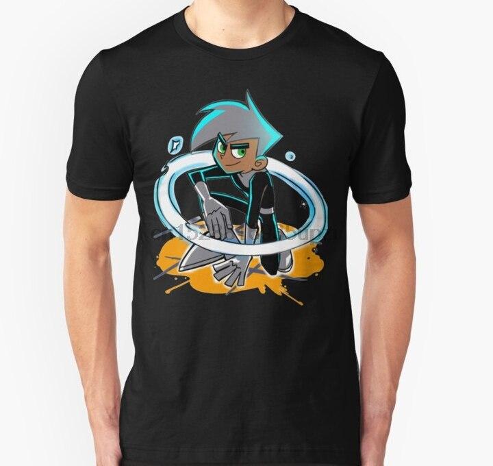 Los hombres manga corta Camiseta Danny Phantom Unisex T camisa mujeres camiseta