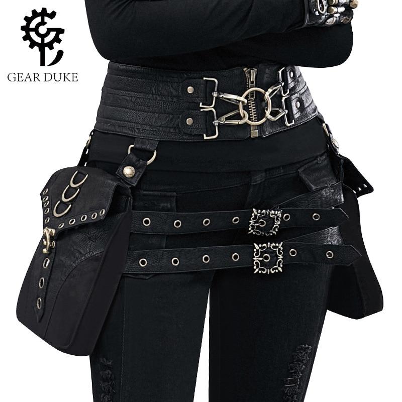 Винтажная кожаная сумка в стиле стимпанк, стимпанк, ретро, рок, готика, ретро, для косплея, для женщин и мужчин