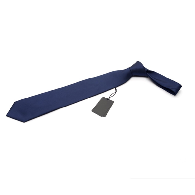 2019 Fashion 8CM Male Formal Tie For Men Business British Style Wedding Working Slim Solid Color Men Ties with Gift Box Blue