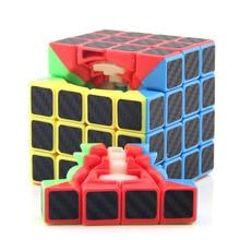 Moyu MF4 z włókna węglowego 4*4*4 szybkość zawodowa Cube magiczna kostka Puzzle edukacyjne zabawki dla dzieci nauka Cubo magiczne zabawki