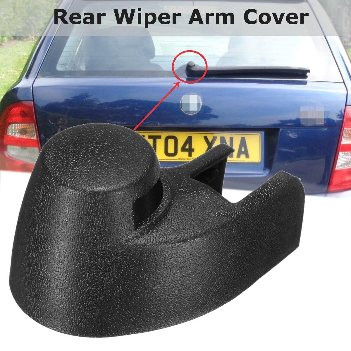Negro limpiaparabrisas trasero para coche lavadora brazo tuerca tapa para Skoda Faiba 1999-2008 6Y6955435