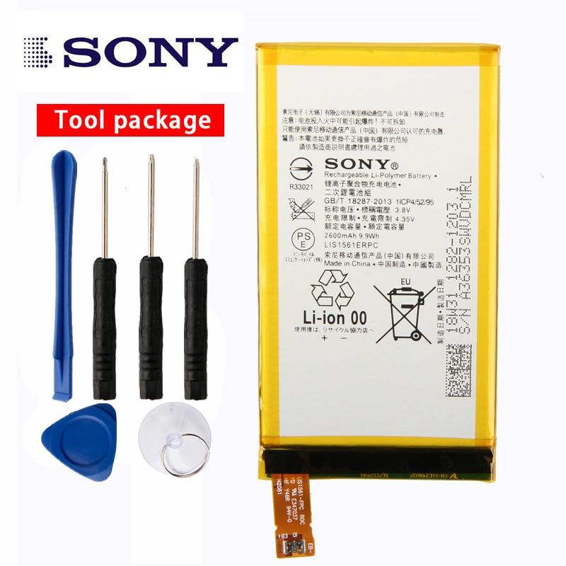 Batería de teléfono Original Sony de alta capacidad para Sony Xperia Z3 Mini Z3 Compact Z3C D5803 D5833 LIS1561ERPC 2600mAh