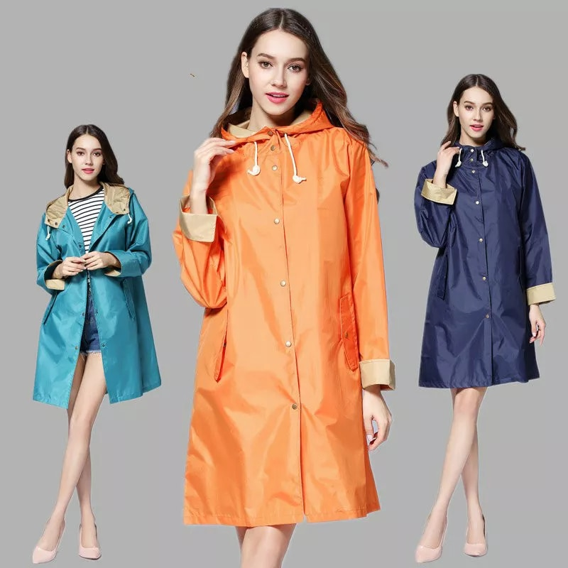 אופנה גברים ונשים קל פונצ 'ו עמיד למים ארוכים Femal חיצוני בגדי גשם Chubasqueros קאפה דה chuva