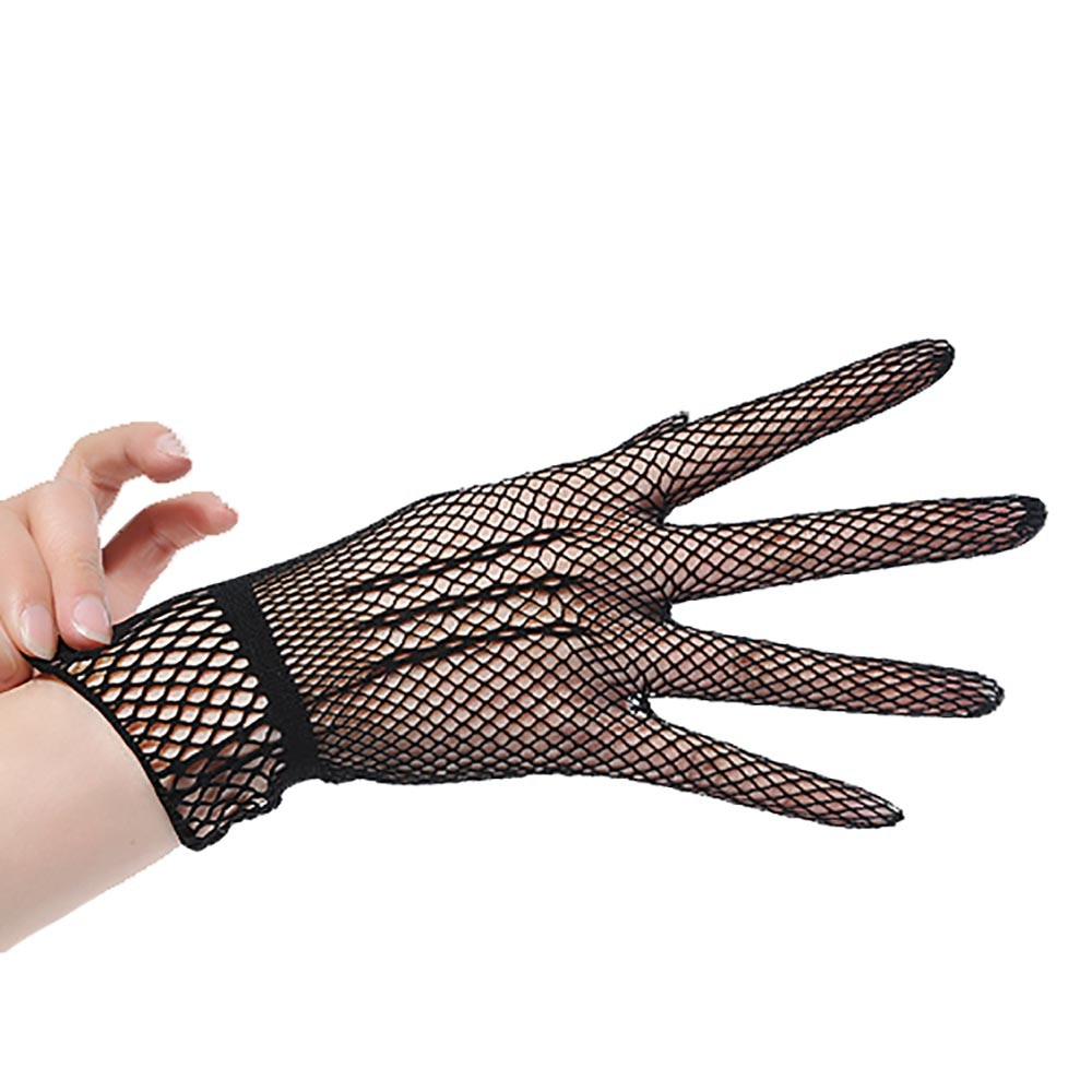Women Gloves Summer Uv-proof Driving Dance Costume Lace Gloves Mesh Fishnet Gloves Cute Patchwork Mittens Guantes High Quality
