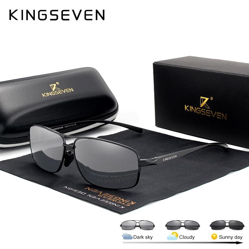 KINGSEVEN nuevas gafas de sol fotocromáticas polarizadas camaleón para hombre gafas de sol masculinas visión nocturna diurna gafas de conducción N7088