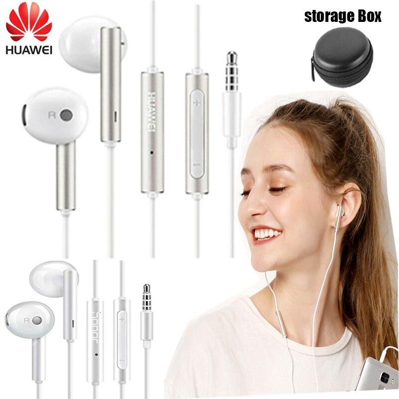 Huawei AM116 Honor AM115 auricular de Metal con micrófono, Control de volumen, auriculares para HUAWEI P7 P8 P9 Lite P10 Plus Honor 5X 6X Mate 7 8 9