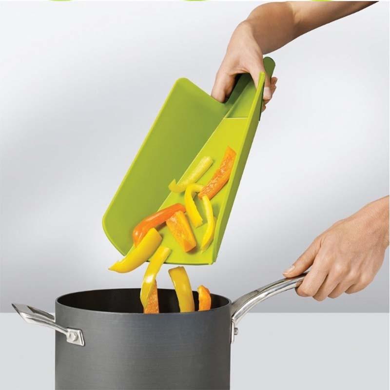 New Chopping Blocks Portable Kitchen Board Flexible Camping Cooking Mat Non-slip Shovel-shaped Plastic Folding Cutting Boards