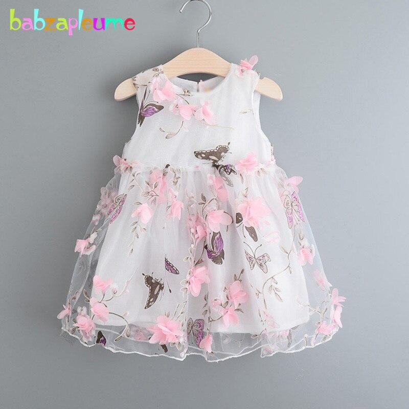 Ropa de niños, vestido de fiesta elegante de verano del 2018, disfraz coreano de princesa con bonita flor, vestidos para niñas pequeñas, ropa BC1682