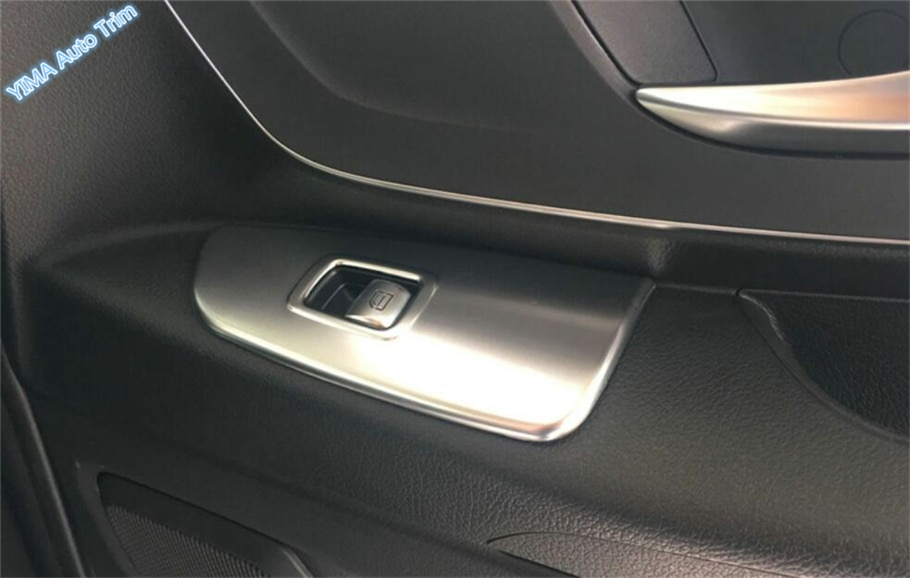 Lapetus puerta del coche reposabrazos ventana interruptor botón cubierta del Panel ajuste para Mercedes-Benz Vite W447 2014- 2018 ABS perla cromada