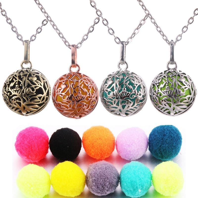 Lotus Guanyin Musik Ball Glocke Aromatherapie Medaillon Anhänger Halskette Charme Parfüm Ätherisches Öl Diffusor Frau Geschenk Schmuck