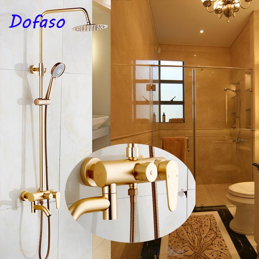 Dofaso-حنفية دش ذهبية كلاسيكية وحنفية دش يدوية وردية وذهبية مع ABS