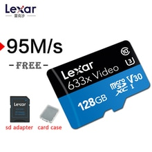 Lexar Original 633x 95 mo/s Micro SD 256G 512G cartes 32gb SDHC Class10 64G 128G mémoire SD carte adaptateur pour Gopro Nintendo switch