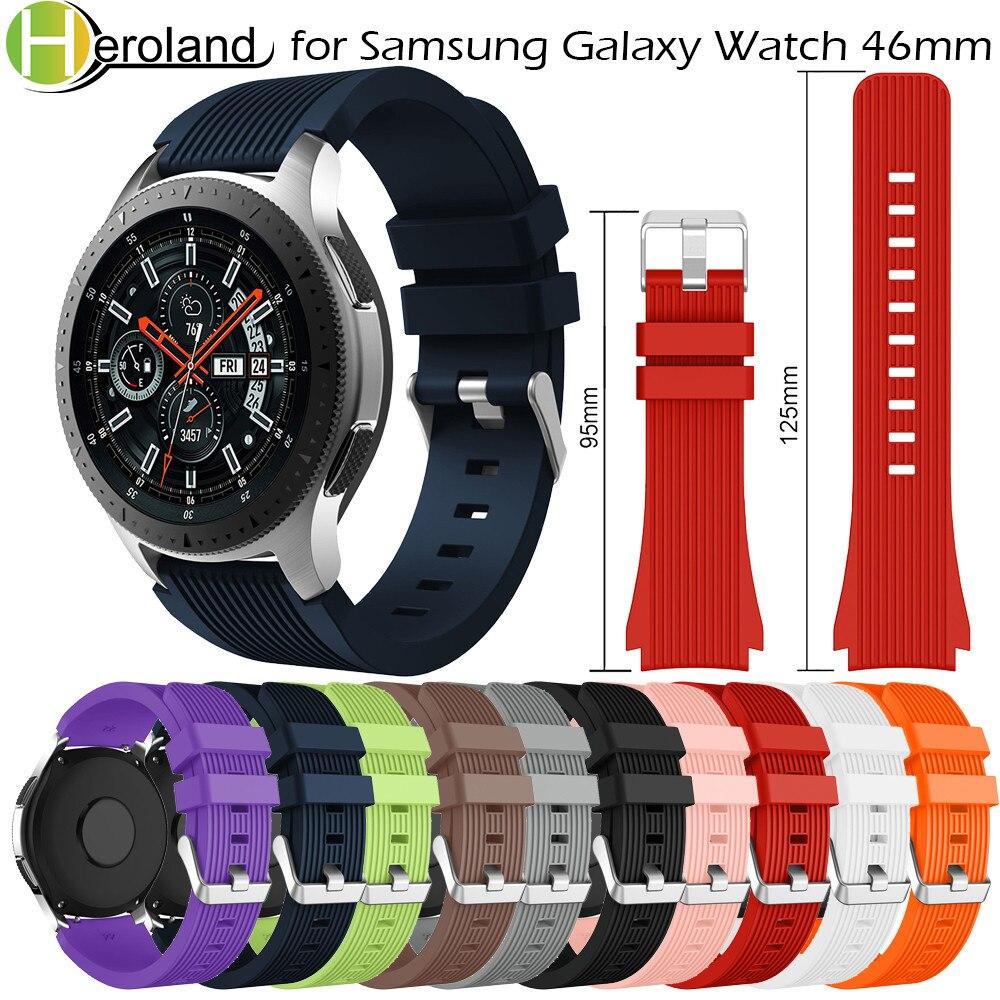 Correa de silicona suave para reloj Samsung Galaxy, banda deportiva de 22mm...