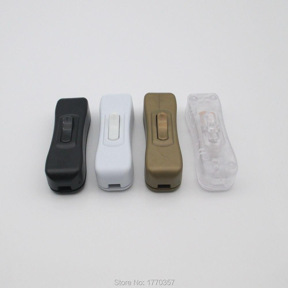 1 Uds interruptor de Medio balancín pulsador interruptor basculante lámpara de mesa de alta calidad interruptor Online negro blanco transparente