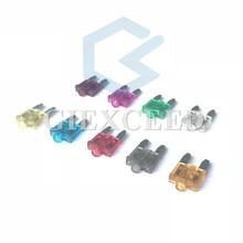 10Pcs Small Mini Size Auto Fuses With Indicator Light Pilot Lamp 5A-40A Automotive Medium Fuse With
