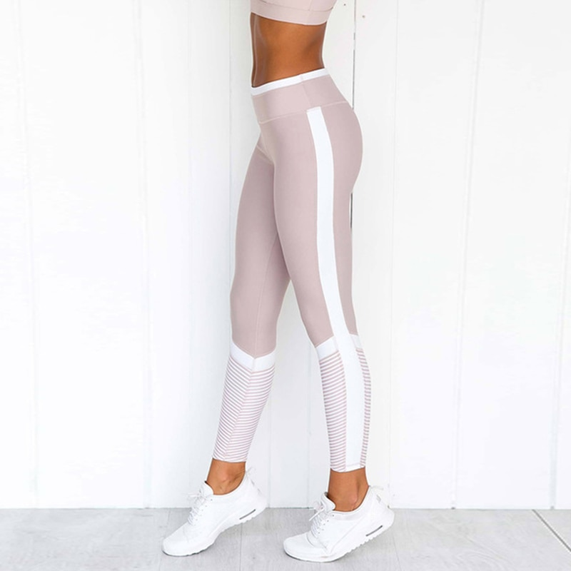 NORMOV impreso mujeres Leggings 2019 moda rayas Casual Leggin alta cintura Sexy Push Up entrenamiento mujer Leggings Fieness elástico