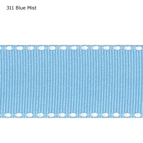 "3/8 ""zoll (9mm) weiß stich Blau Nebel band"