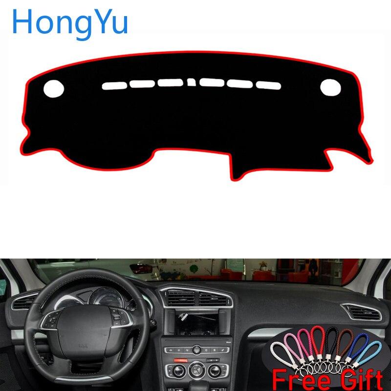 Para Citroen C4L 2013-2018 Acessórios Interiores Auto Placa de Cobertura Do Painel Do Carro Traço Mat Pad Tapete Tapetes Dashmat Anti-UV