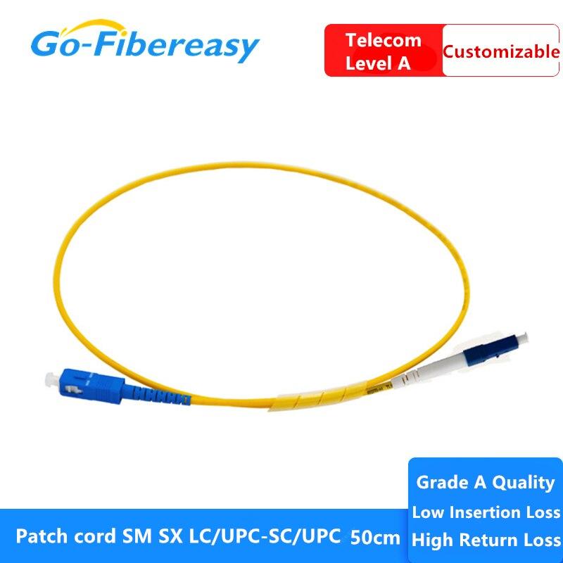 20 unids/lote fibra optica ftth Cable de parche LC/UPC-SC/UPC SM Simplex fibra...