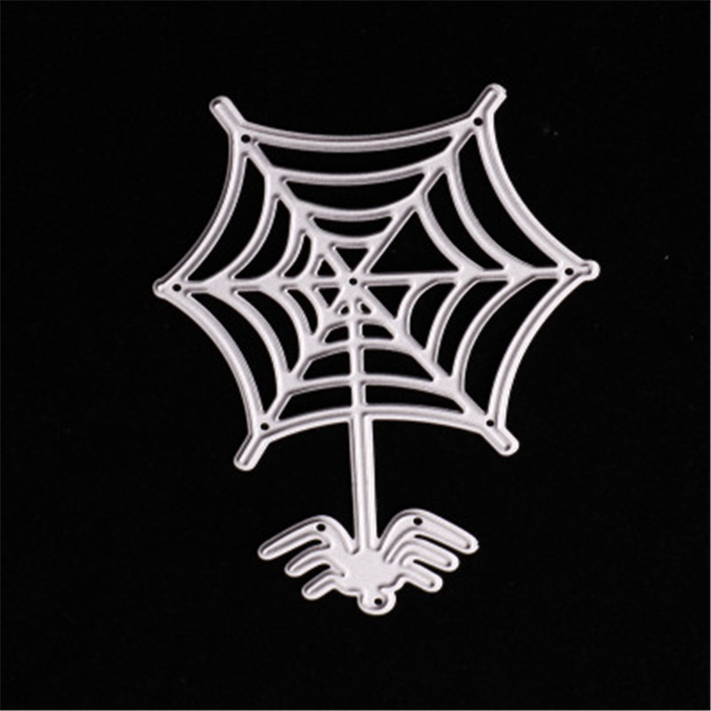 Halloween Spiderweb Spider Metal Cutting Dies cutter Knife For Card Making Clear Stamp Scrapbooking Paper Card