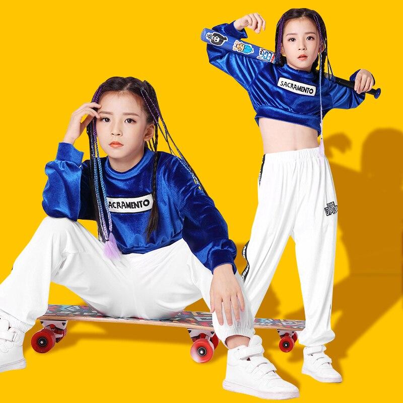 Детский комплект хип-хопа в стиле хип-хоп, детские костюмы в стиле хип-хоп, осенне-зимнее платье для девочек, одежда для джазовых танцев