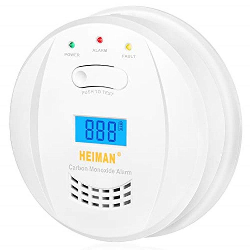 Alarma de monóxido de carbono HEIMAN, EN 50291, con pantalla Digital LCD Detector-723ESY de monóxido de carbono