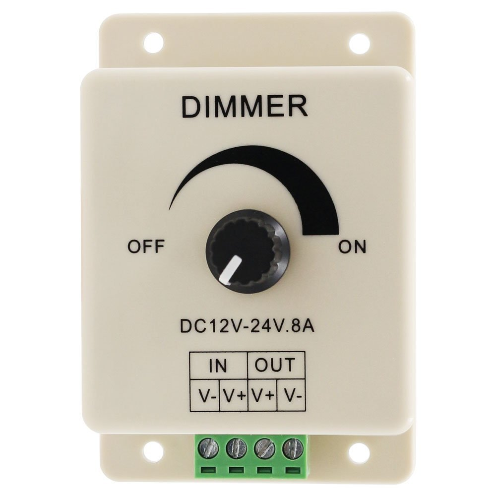 SICCSAEE Hot Selling DC 12V 8A LED Light Protect Strip Dimmer Adjustable Brightness Controller In St