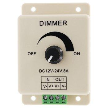 SICCSAEE vente chaude DC 12V 8A lumière LED protéger bande gradateur réglable contrôleur de luminosité en Stock livraison gratuite