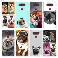 Pies lew tygrys telefon etui na LG Q6 w G7 G6 G5 G4 G3 V30 V20 K8 K8 K10 2018 K10 K8 2017 STYLUS STYLO 3 M700 pokrywa