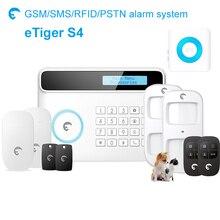 Etiger S4 pet-friendly Sem Fio Pstn/gsm Rede Dupla Sistema de Alarme de Segurança com interna indoor strobe sirene de alarme