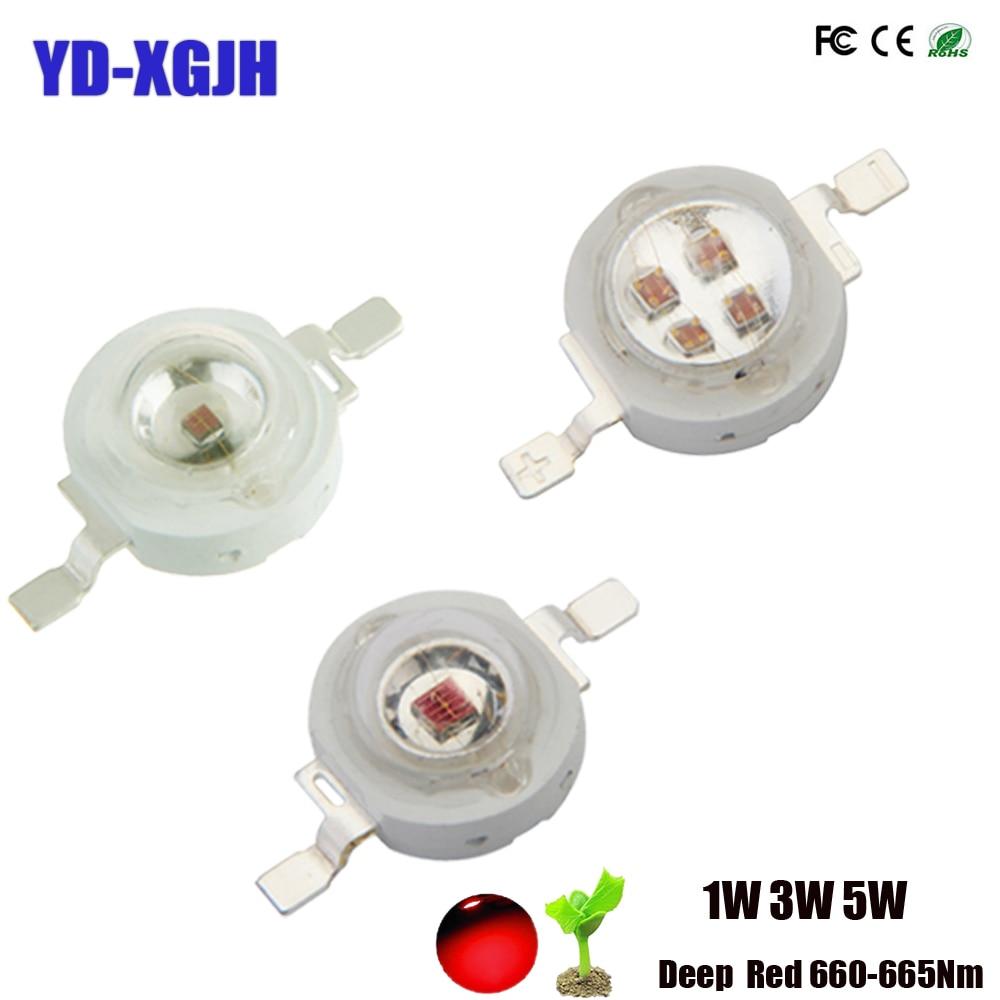High Power LED Chip 1W 3W 5W Grow LED Deep Red 660-665Nm 2.0-2.4V 300-1200MaSMD Diode COB DIY Grow Light For Plant Fruit Growth
