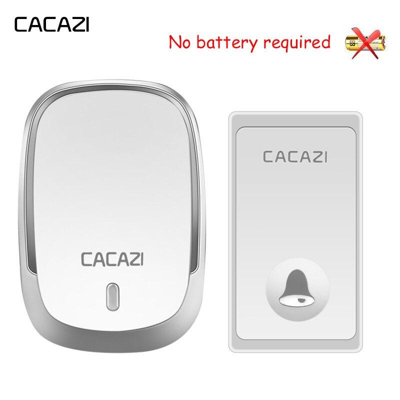 CACAZI водонепроницаемый беспроводной дверной звонок с автономным питанием без