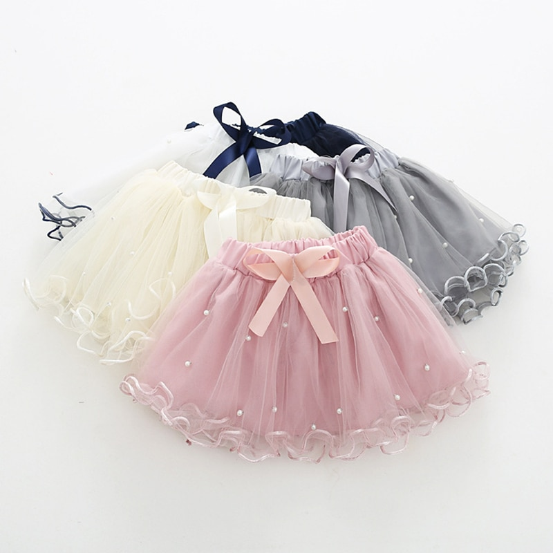 2021 юбки пачки для маленьких девочек, короткая юбка с жемчугом для маленьких девочек, детские Волнистые Розовые Пышные юбки принцессы с бантом, Детские балетки Юбки    АлиЭкспресс