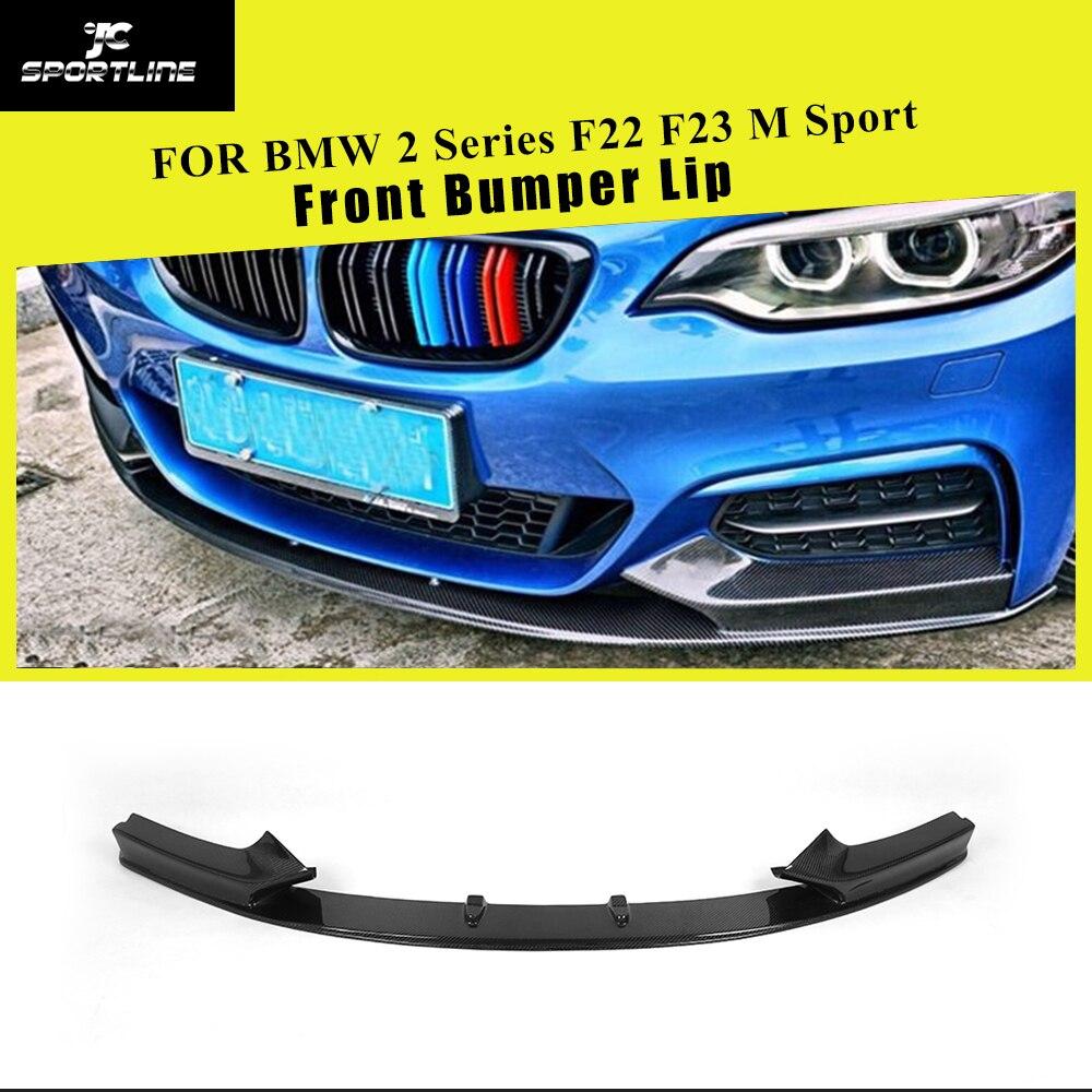 Parachoques delantero alerón Splitters para BMW Serie 2 F22 F23 M Sport Coupe Convertible 2014 - 2018 fibra de carbono/FRP protector de la barbilla