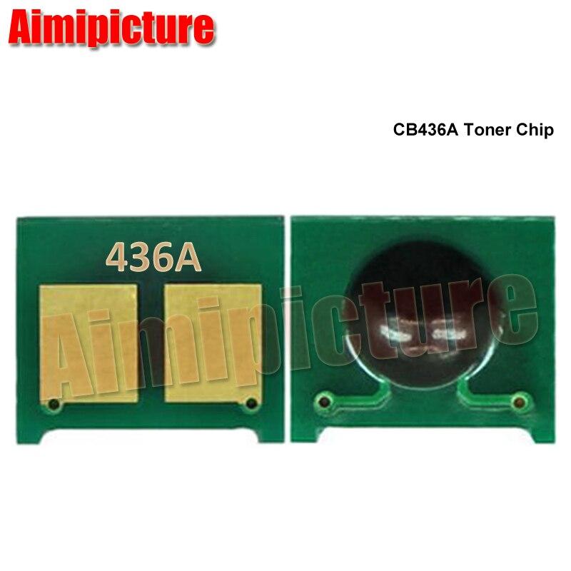 CB436A 436A cartucho de tóner Chip de reinicio para HP LaserJet P1505/M1522/M1120 piezas de impresora de chip de tóner 50 unids/lote