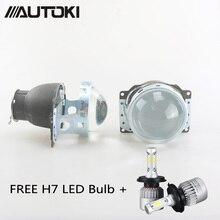 AUTOKI Car Styling Projector Lens 3 Inch Q5 Koito Bi-xenon HID Bi-xenon Projector Lens single beam Using H7 led bulb/xenon bulb