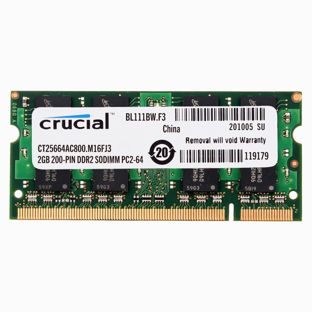 Crucial la memoria del ordenador portátil DDR2 800/667/533 DDR2 1GB 2GB portátil...
