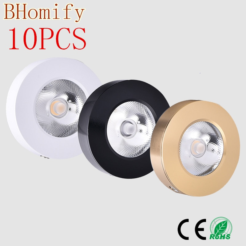 10X Ultrathin surface mounted Led cob downlight spot light lamp bulb 3w 5w7w 10w 15w 220V ceiling recessed Light Indoor Lighting