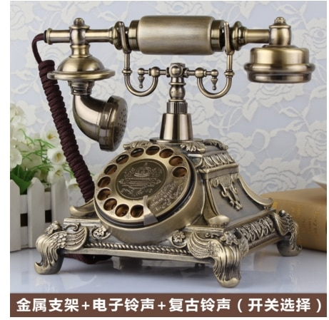 Mode Antikes telefon vintage altmodische feste telefon zu hause Rotation zifferblatt