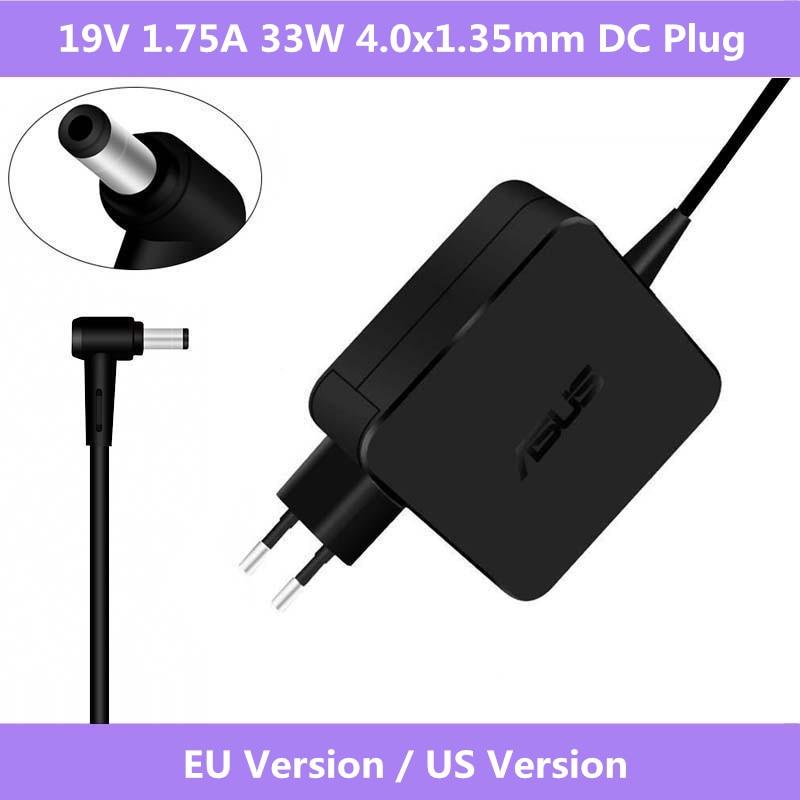 19V 1.75A 33W 4,0mm x 1,35 AC portátil cargador de la energía del adaptador de CA para ASUS Vivobook S200 S220 X200T X202E X553M Q200E X201E Notebook