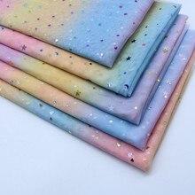 150cm Width Hot Rainbow Star Love Sequin Mesh Fabric Colorful Organza Glitter Fabric DIY Dress Wedding Party Decoration 1Meter