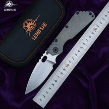 Складной нож LEMIFSHE SMF D2 лезвие, титановый нудист/ямы, ручка, медная мойка, кухонные ножи для охоты, инструменты для повседневного использования