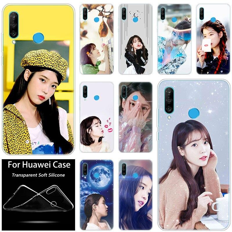 Chaude ui Kpop Kawaii fille chanteur Silicone étui pour huawei P30 20 Pro 10 P9 P8 Lite 2017 P Smart Z Plus 2019 NOVA 5i 5 Pro couverture