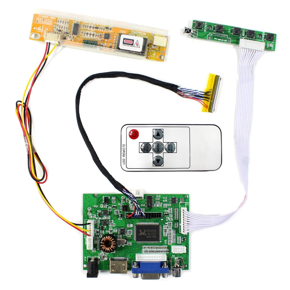 "HDMI VGA AV Audio LCD Controller Board VS-TY2662-V196  for 14.1"" LP141WX3 LT141WX1  15.4"" LTN154W1-L01  1280x800 LCD Screen"