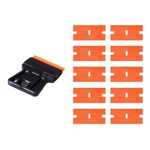 Image 4 - EHDIS скребок для очистки стекла, бритвенный скребок + 10 шт. пластиковых лезвий, автомобильные тонировочные инструменты, стикер для автомобиля, пленка для удаления клея, инструмент для виниловой обертки