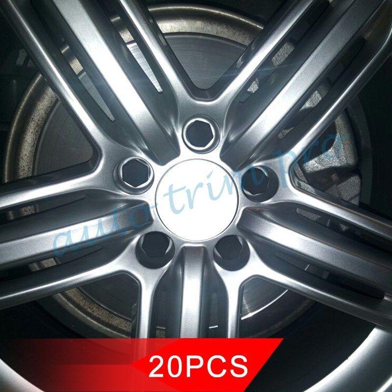 Negro 19mm Auto rueda buje perno tuerca tornillo tapas cubierta polvo proteger accesorios de silicona