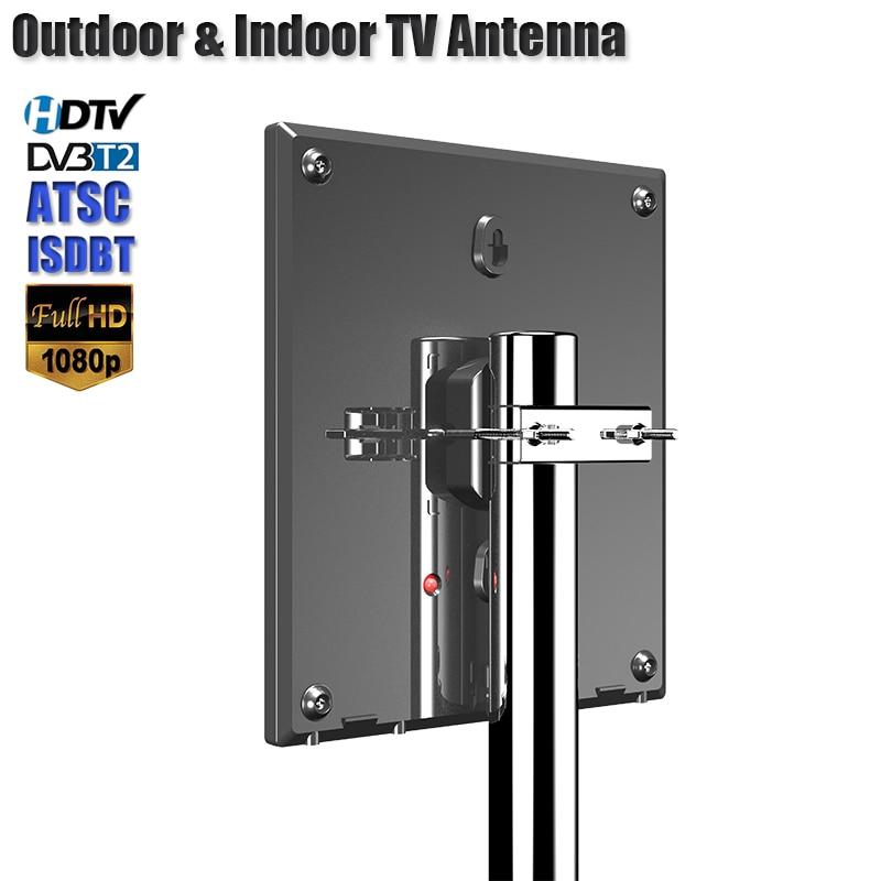 HD هوائي للتلفزيون الرقمي دعم DVB T2 ATSC ISDBT التلفزيون هوائي في الهواء الطلق/داخلي التلفزيون مكبر صوت أحادي مكاسب عالية هوائي منخفض الضوضاء
