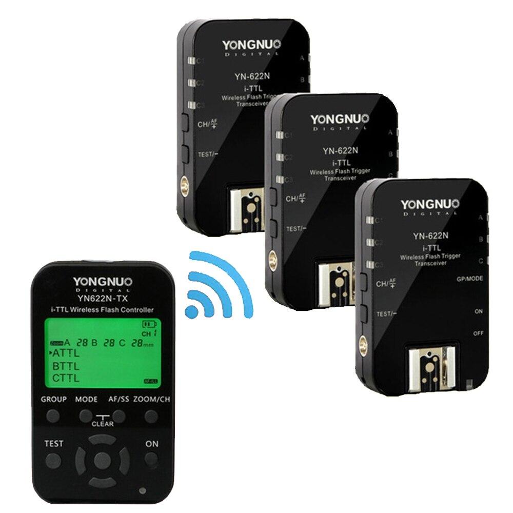 YONGNUO YN-622C II KIT de E-TTL inalámbrico disparador de flash receptores Yongnuo YN622C + YN622C-TX para Canon Yongnuo YN685 YN600EX-RT II